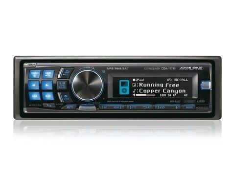 alpine cda 117 cd player usb in dash receiver ebay rh ebay com Alpine CDA 117 Review Alpine CDA-117 Back