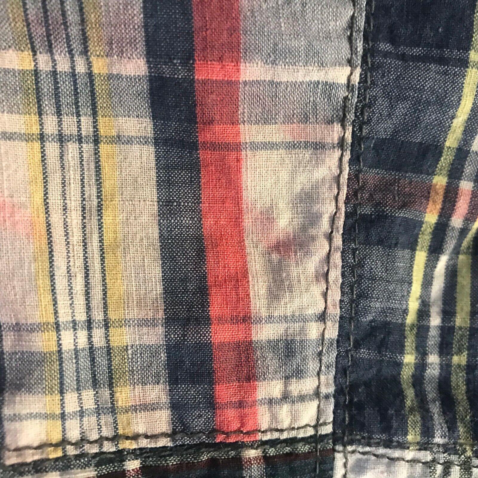 Vtg 60s Young Edwardian Arpeja 5 Denim Plaid Patc… - image 10