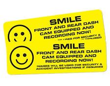 Sonrisa Dashcam Decal/Sticker Pegatina De Advertencia De Cctv. en Coche 200x60mm Pegatina De Taxi