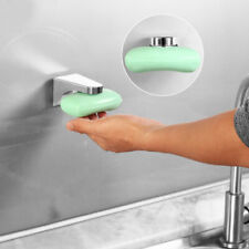 New Magnetic Soap Holder 3M Adhesion Wall Soap Dish Sink//Bathroom Silver THD
