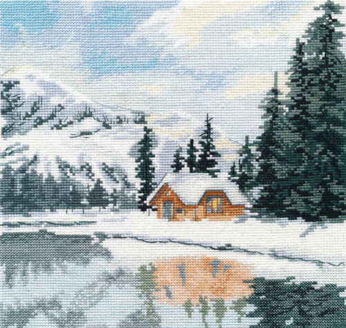 """Counted Cross Stitch Kit OVEN 1295 /""""Lake Louise/"""""""