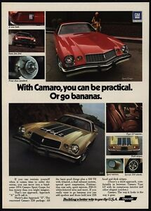 1974 Chevrolet Camaro Gold Z28 Amp Red Sport Coupe 350 V8