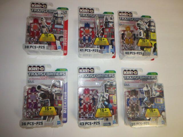 Hasbro KRE-O Transformers Custom KREON lot of 6 Brand New