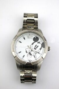 MZB-DISNEY-Mickey-Mouse-Silver-Tone-Large-Face-MCK988-Men-039-s-Watch
