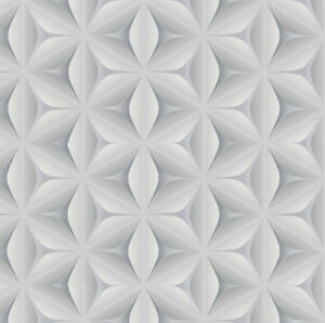 details about grey white retro wallpaper 3d funky star leaf abstract vintage geometric feature