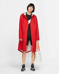 NIKELAB-COLLECTION-WOMEN-S-PARKA-AV8282-696-Nike-Rain-Jacket-Red-MSRP-400SZ-M-XL