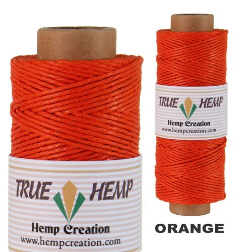 Natural Hemp Cord 10lb 0.5mm 310feet//95m 50gram Spools in 20 COLORS AVAILABLE