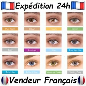 Lentilles de Couleur 12 couleurs 90 jours   Color Lens 12 colors 90 ... f7faa69fcefd