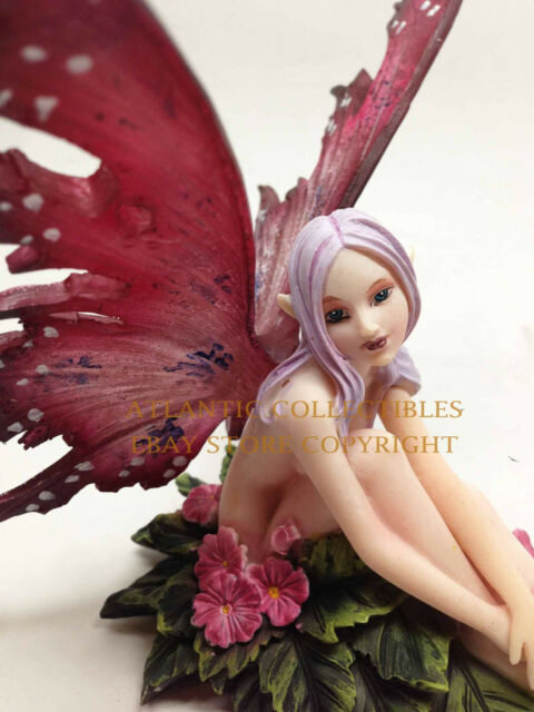 AMY BROWN WISH YOU WERE HERE FLOWER FAIRY STATUE ENCHANTED FOREST FAERY