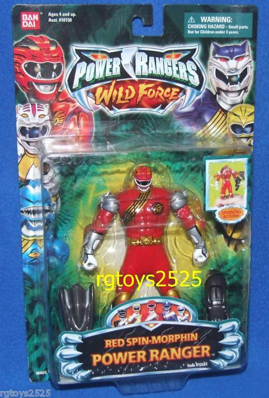 Power Rangers Wild Force ROT Spin-Morphin 5