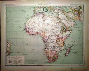 Cartina Geografica Africa Politica.Carta Geografica Antica Africa Politica Epoca Coloniale 1891 Old Antique Map Ebay