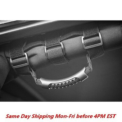 Roll Bar Grab Handle (PAIR) & FREE Flashlight Holder for Jeep Wrangler YJ TJ JK