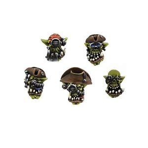 Kromlech BNIB Orc Cyber Pirates Heads (10)
