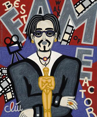 JACQUELINE DITT - Walk of Fame - Best Actor 2017 Gemälde Schauspieler Oscar