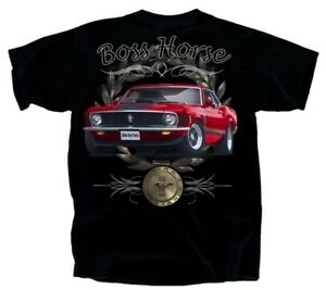 1970-Ford-Mustang-BOSS-Horse-T-Shirt-Out-Of-Print-amp-LAST-ONES-Free-Shipping