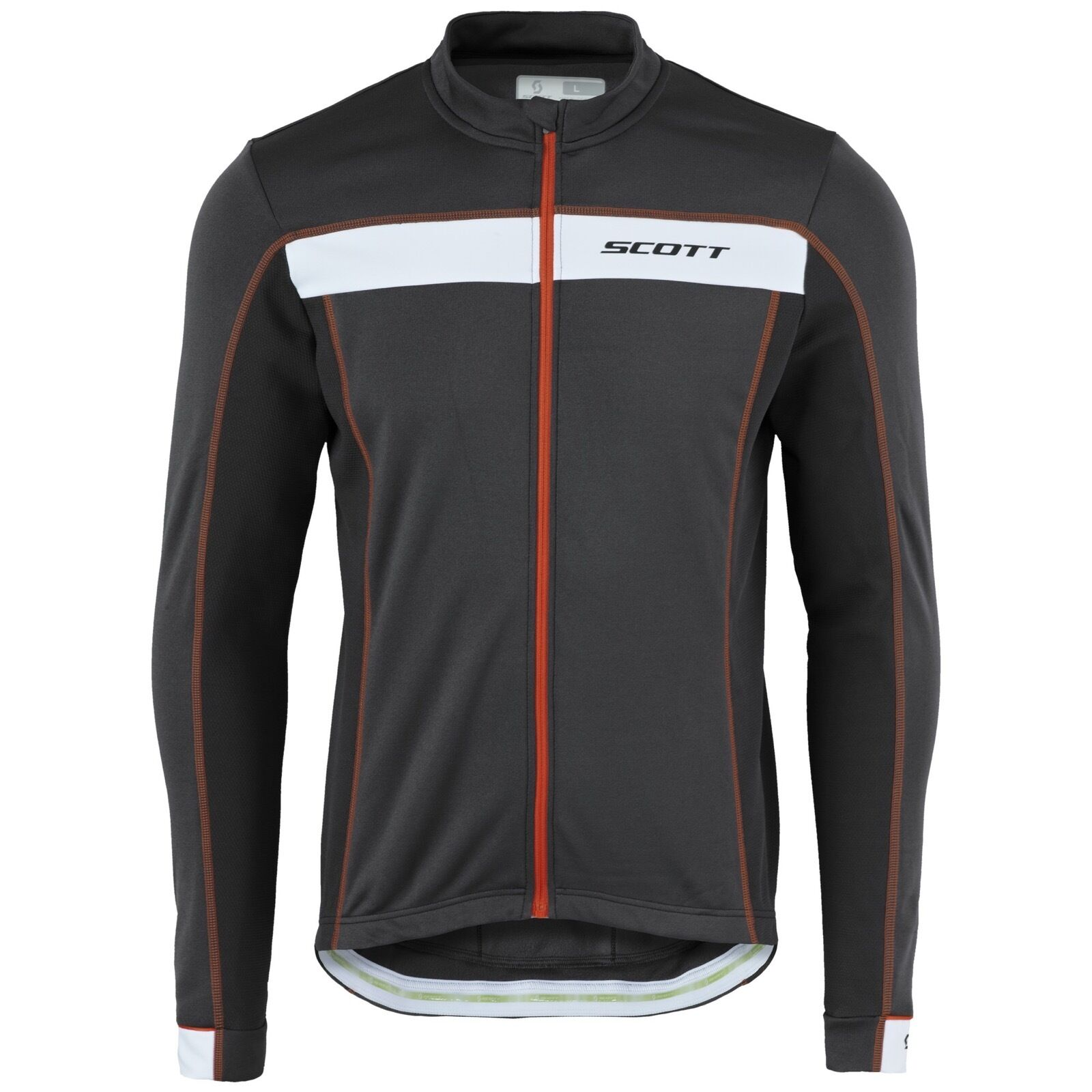MAGLIA CICLISMO SCOTT SHIRT ENDURANCE AS 20 L SL color black-red-BIANCO