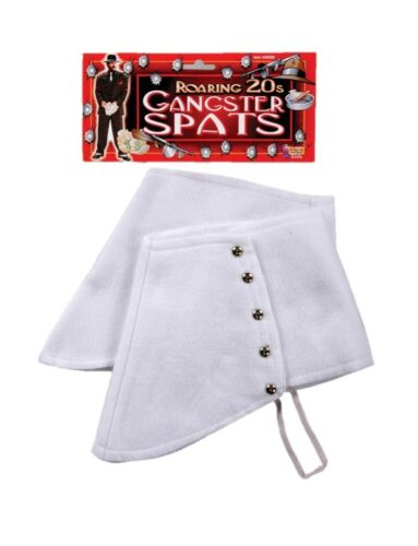 1920/'s White Gentleman Spats 20/'s Mob Mobster Great Gatsby Costume Accessory