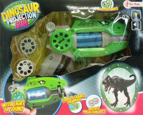 SUPERBE Dinosaures-Projecteur avec 16 Image-Projections la lumière et Sound pistolet