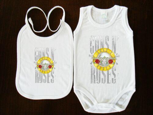 Guns N/' Roses BIBS+BABY BODYSUIT ONE PIECE CLOTHING  FUNK