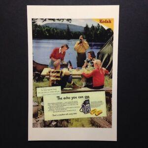 Family Camping Kodak Film & Brownie Camera Postcard Ad