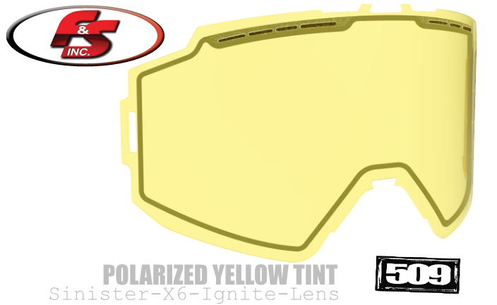 509 Sinister X6 Ignite Lens Polarized Yellow Tint