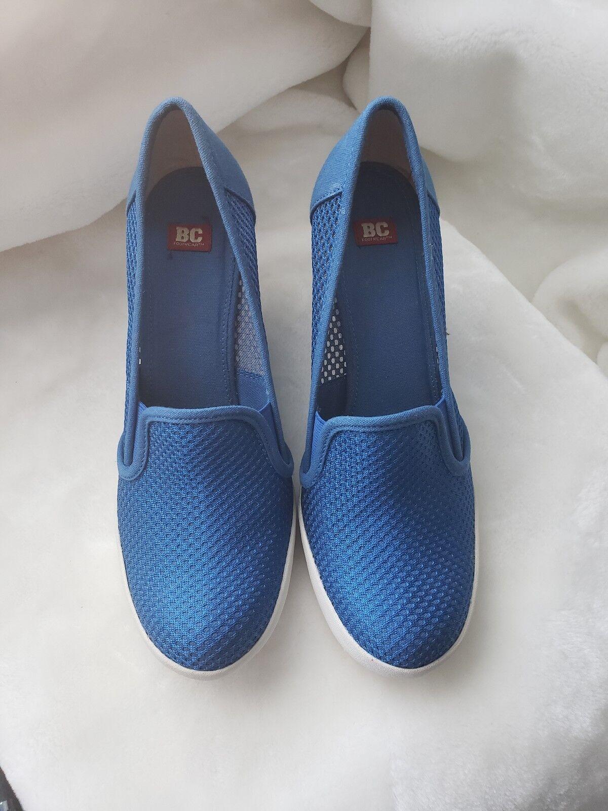 BC Footwear Break The Ice bluee Fashion Wedge Sneaker Sz.8.5M