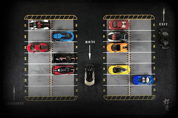 Modèle De Voiture Garage Parking Mouse Pad 1 64 (version A)
