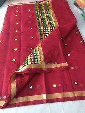 Indian Kota Cotton Traditional Saree Designer Mirror Work Bollywood Ethnic Sari