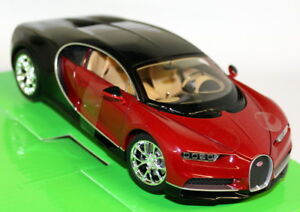 Nex-1-24-27-Scale-Bugatti-Chiron-Red-Black-Supercar-Diecast-Model-Car