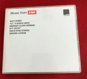 KATY PERRY E.T ft Kayne West Squeaky cle UK promo dvd acetate ABBEY ROAD studios