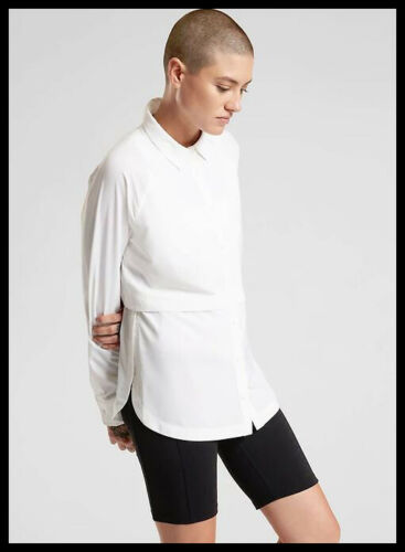 Athleta NWT Women/'s Northstar Shirt Size Med Color White