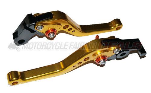Honda CBR 600 F4i 2004 2005 2006 2007 Adjustable Shorty Brake Clutch Lever Gold