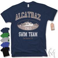 ALCATRAZ SWIM TEAM T-SHIRT - KULT FUN  Retro Vintage versch. Farben Gr. S - XXL