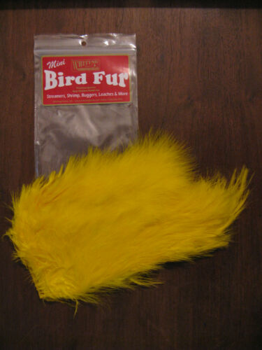 Fly Tying-WHITING FARMS Spey Mini Oiseau Fourrure Jaune
