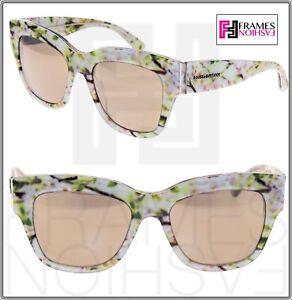 e1cf3446f88a DOLCE   GABBANA Almond Flowers 4231 White Gold Mirrored Sunglasses ...