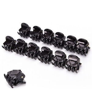 10PCS-Black-Plastic-Mini-Hair-Claw-Clamp-Clips-Bangs-clips-For-Women-Girls-GIFTS