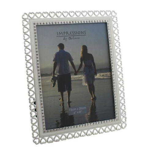 "Coeurs de cristal brillant belle bord cadre Photo 4 x 6/"" 5 x 7/"" 6 x 8/"" 8 x 10/"" FS729"