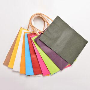 Luxe-5X-Parti-Sacs-Papier-Kraft-Sac-Cadeau-Avec-Poignees-recyclable-Loot-Sac-S