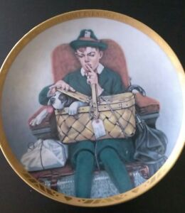 Traveling-Companions-N-Rockwell-0019A-Sat-Evening-Post-collectible-plate-decor