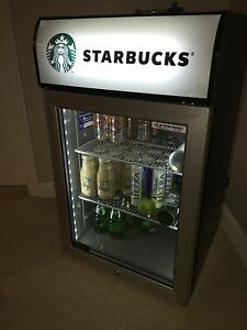 New Starbucks Glass Door Refrigerator 3 Shelves Mini