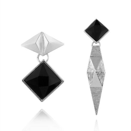 Fashion asymétrique géométrique alliage Rhombus Dangle Drop Boucles d/'oreille cadeau HH3840