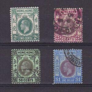 HONG-KONG-1912-Sc-110-120-CV-52-Wmk-Mult-Crown-CA-part-set-MH-Used
