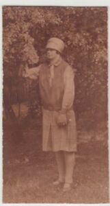 (f17174) Orig. Photo Jeune Femme M. Chapeau En Plein Air 1920er-afficher Le Titre D'origine