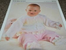 8a6c733fc Baby Dress Knitting Pattern Very Pretty With Smocked Yoke 16-22