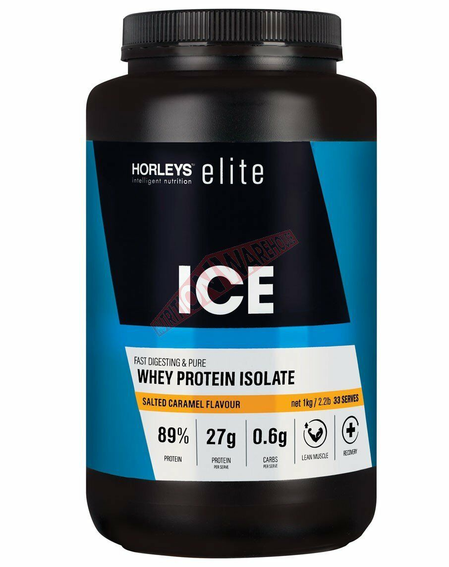 Horleys Or Supplements ICE WHEY PROTEIN ISOLATE Salted Caramel- 1Kg Or Horleys 2.5Kg 846e70