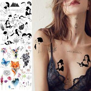 Sexy Adult Temporary Tattoos Fake Fox Hummingbird Body Art Tattoo Paper Stickers