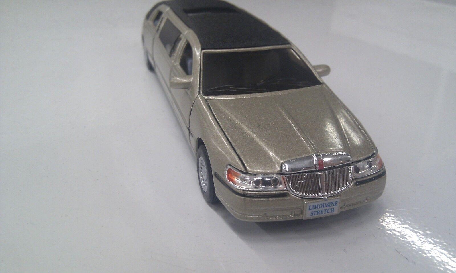Lincoln Town car Étire Limousine Kinsmart Doré Jouet Miniature