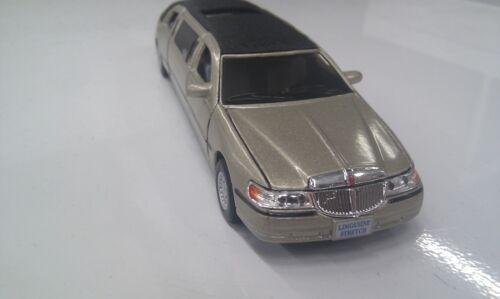 Lincoln Stadt Auto Stretch Limousine Kinsmart Golden Toy Modell Druckguss 1:3 8