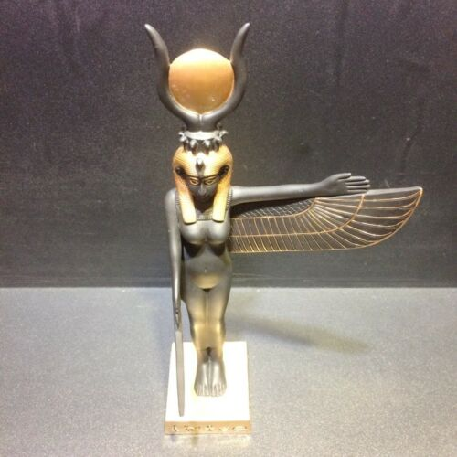 """9.5/"""" Statue Egyptian ISIS Goddess Ancient Egypt Standing Wing Figurine Sculpture"""