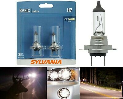 Sylvania Basic H2 55W Two Bulbs Fog Light Replacement Plug Play Legal DOT OE Fit